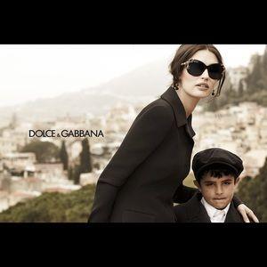 Dolce & Gabbana Baroque Sunglasses Black & Gold